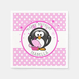 Guardanapo De Papel Aniversário do cupcake do pinguim