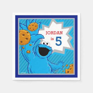 Guardanapo De Papel Aniversário do monstro do biscoito