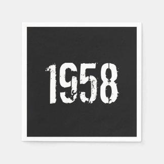 Guardanapo De Papel Aniversário do nascer em 1958