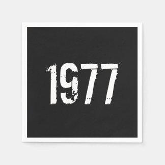 Guardanapo De Papel Aniversário do nascer em 1977