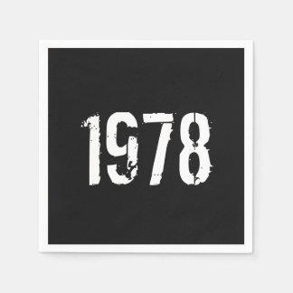 Guardanapo De Papel Aniversário do nascer em 1978