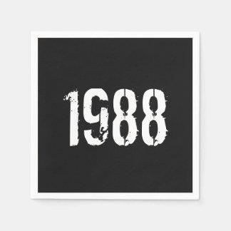 Guardanapo De Papel Aniversário do nascer em 1988