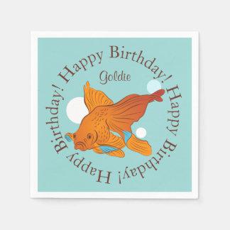 Guardanapo De Papel Aniversário personalizado gráfico do peixe dourado