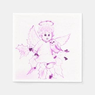 Guardanapo De Papel Anjo pequeno no rosa