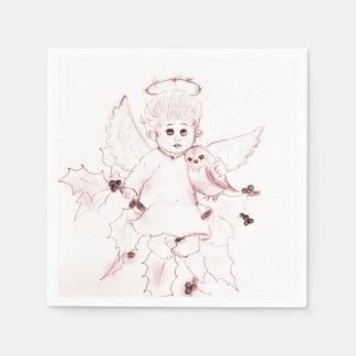 Guardanapo De Papel Anjo pequeno no vermelho