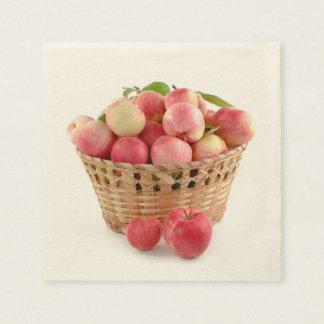Guardanapo De Papel Apple colhe, maçãs na cesta, outono