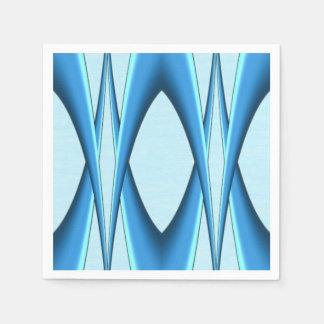 Guardanapo De Papel Arco azul futurista
