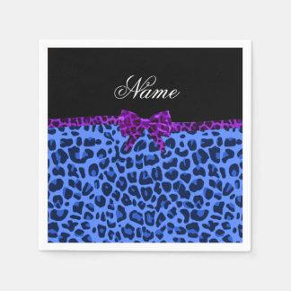 Guardanapo De Papel Arco roxo personalizado do impressão azul