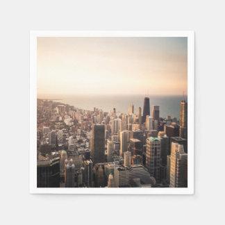 Guardanapo De Papel Arquitectura da cidade de Chicago