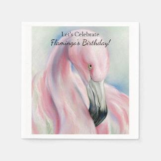 Guardanapo De Papel Arte cor-de-rosa do Pastel do flamingo