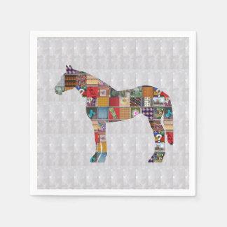 Guardanapo de papel - ARTE da corrida de cavalos
