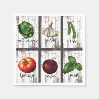 Guardanapo De Papel Arte moderna rústica da comida da cozinha dos