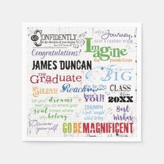 Guardanapo De Papel Arte personalizada da palavra da graduação