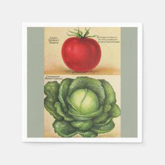 Guardanapo De Papel Arte vegetal do jardim do vintage, 1913