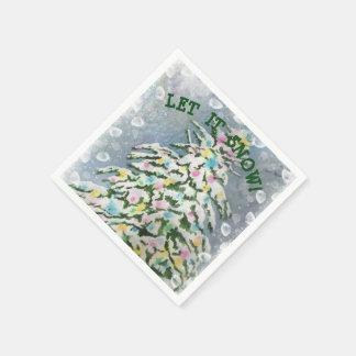 Guardanapo De Papel Árvore de Natal nevado