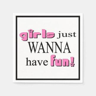 Guardanapo De Papel As meninas apenas querem ter o divertimento