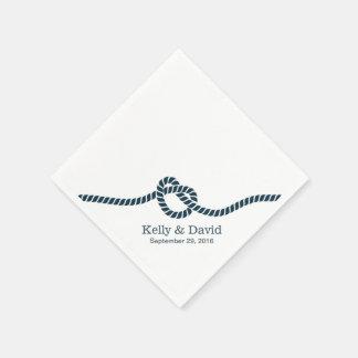 Guardanapo De Papel Azuis marinhos do casando do casamento
