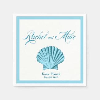 Guardanapo De Papel Azul da hortelã do casamento de praia   do