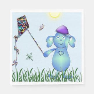 Guardanapo De Papel Azul de bebê no parque