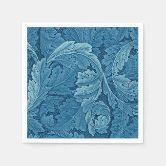 Guardanapo De Papel Azul do vintage do Acanthus de William Morris