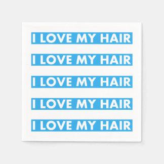 Guardanapo De Papel Azul eu amo meu entalhe do cabelo