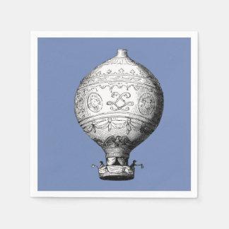 Guardanapo De Papel Balão de ar quente do vintage de Montgolfier