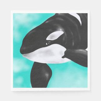 Guardanapo De Papel Baleia bonito da orca
