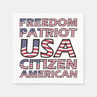 Guardanapo De Papel Bandeira americana do cidadão dos EUA do patriota