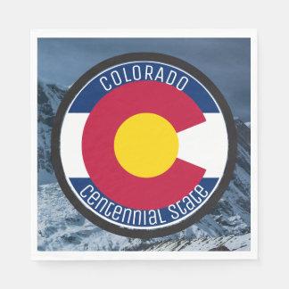 Guardanapo De Papel Bandeira da circular de Colorado
