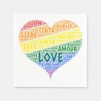 Guardanapo De Papel Bandeira da lareira do arco-íris de LGBT ilustrada