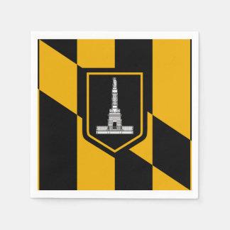 Guardanapo De Papel Bandeira de Baltimore, Maryland