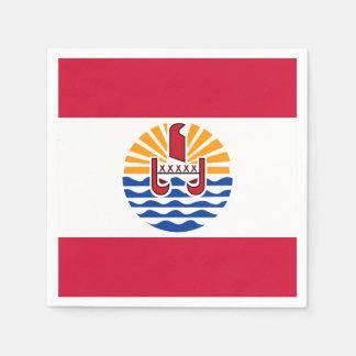 Guardanapo De Papel Bandeira de Polinésia francesa