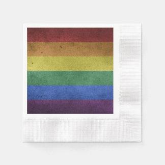 Guardanapo De Papel Bandeira do arco-íris do Grunge LGBT