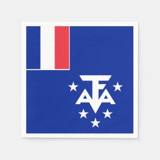 Guardanapo De Papel Bandeira do sul e antárctica francesa das terras