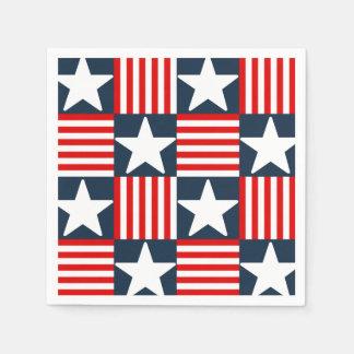 Guardanapo De Papel Bandeira dos Estados Unidos bonito