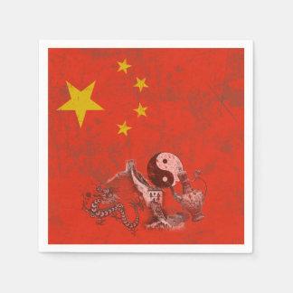 Guardanapo De Papel Bandeira e símbolos de China ID158