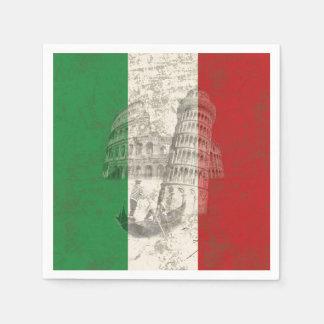 Guardanapo De Papel Bandeira e símbolos de Italia ID157