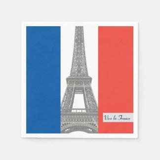 Guardanapo De Papel Bandeira francesa, la France de Vive, partido do