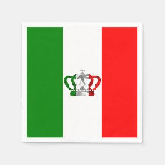 Guardanapo De Papel Bandeira moderna do italiano de Italia da coroa do