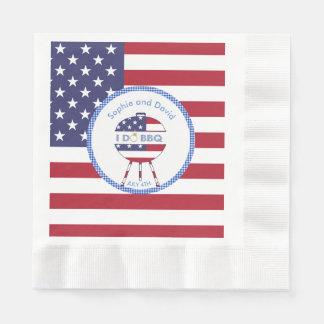 Guardanapo De Papel Bandeira original 4o dos EUA do partido de julho