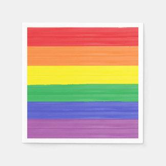 Guardanapo De Papel Bandeira pintada do arco-íris