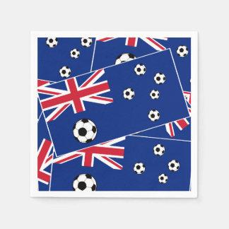 Guardanapo De Papel Bandeira s6 pillow.png do futebol de Austrália