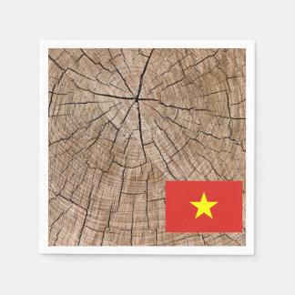 Guardanapo De Papel Bandeira vietnamiana no latido de árvore