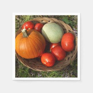 Guardanapo De Papel Basketful das frutas e da Vegetal-Acção de graças