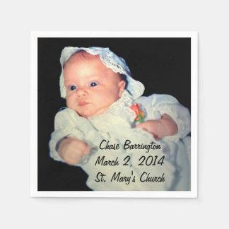 Guardanapo De Papel Batismo a foto do Special do bebê