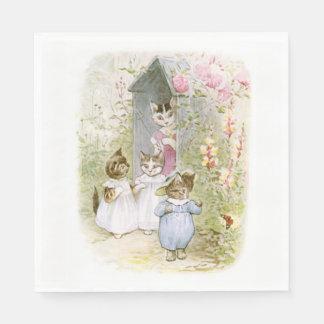 Guardanapo De Papel Beatrix Potter, gatinho de Tom, bonito, costume