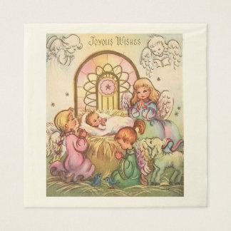 Guardanapo De Papel Bebê Jesus do Natal em anjos do comedoiro