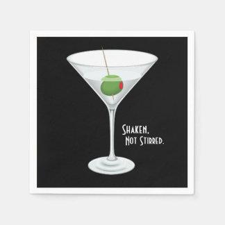 Guardanapo De Papel Bebida não agitada agitada do cocktail de Martini
