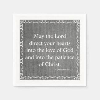 Guardanapo De Papel Bênção da escritura da bíblia - 2 3:5 de