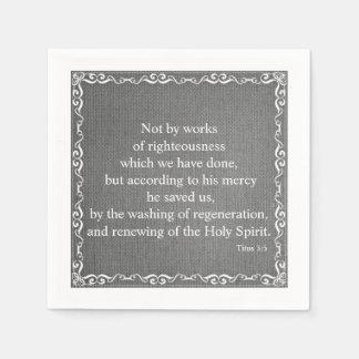 Guardanapo De Papel Bênção da escritura da bíblia - 3:5 de Titus